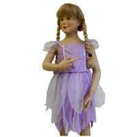 Purple Fairy Costume With Wings 3-5