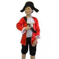 Red Pirate Captain Costume Size 3-5
