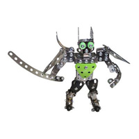 Metal Building Toy Robot #2 Meccano Style Construction Set