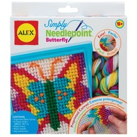 Simply Needlepoint Butterfly Kids Sewing Kit