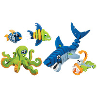 Bloco Marine Creatures 235 Piece Construction Toys Set