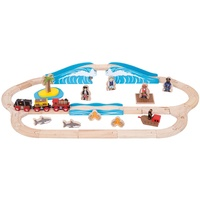 Bigjigs Pirate Train Set Wooden Trains