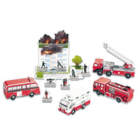 3D Puzzle Big Fire Action Cardboard Jigsaw Model
