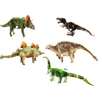 3D Wind Up Toy Puzzles Dinosaurs Pack of 5