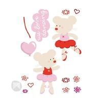 Bear Ballet Wall Decal
