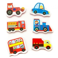 Trucks and Trains Bath Stickers