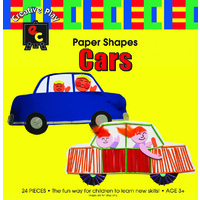 Fun Shapes Cars x 24 Cardboard Cutouts